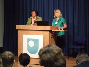 Stella Hurd and Maria Fernandez-Toro giving their paper at the SWON 209 conference.